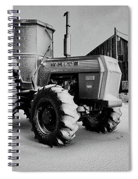 White Tractor Spiral Notebook