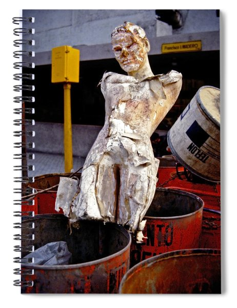 Spiral Notebook featuring the photograph White Trash by Skip Hunt