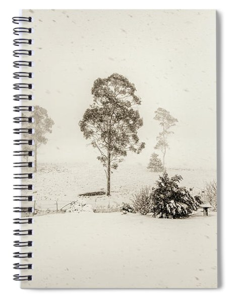 White Washed Spiral Notebook
