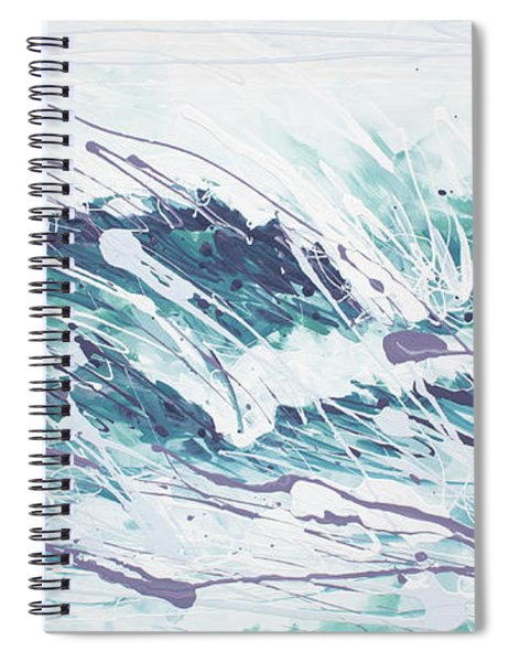 White Wave Abstract Spiral Notebook