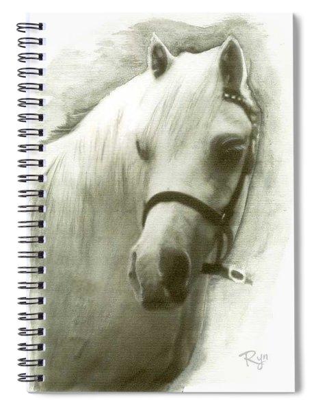 White Welsh Pony Spiral Notebook