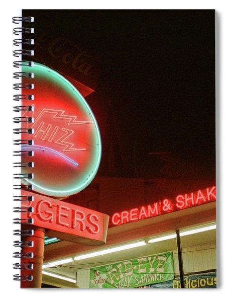 Whiz Burgers Neon, San Francisco Spiral Notebook