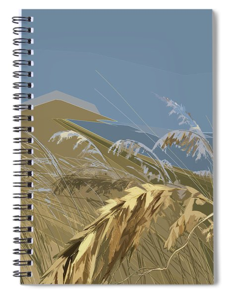 Spiral Notebook featuring the digital art Who Has Seen The Wind? by Gina Harrison