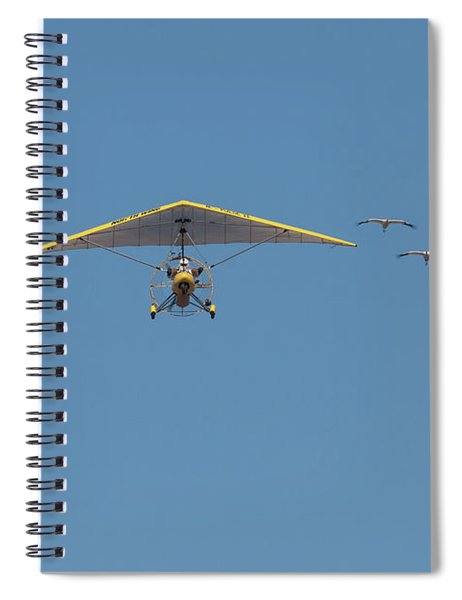 Whooping Cranes And Operation Migration Ultralight Spiral Notebook