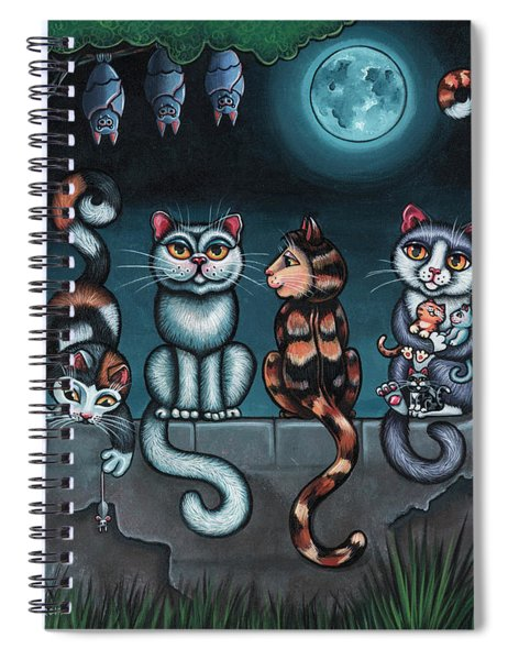Whos Your Daddy Cat Painting Spiral Notebook
