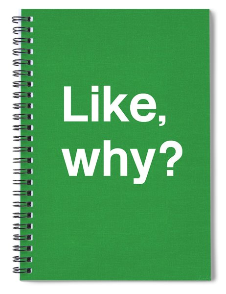 Why- Art By Linda Woods Spiral Notebook