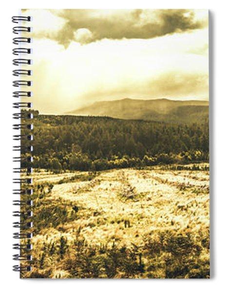Wide Open Tasmania Countryside Spiral Notebook