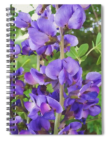 Wild Blue False Indigo Spiral Notebook