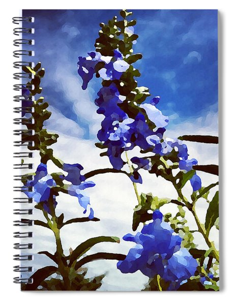 Wild Blue Sage  Spiral Notebook