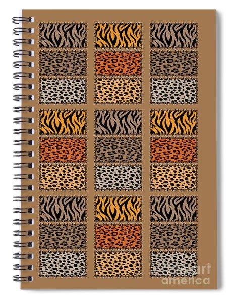Wild Cats Patchwork Spiral Notebook