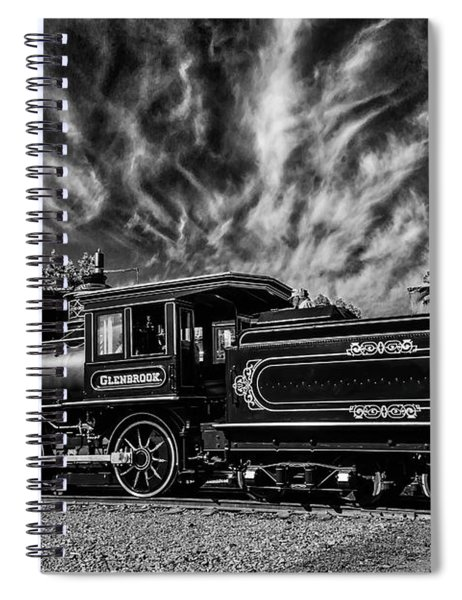 Wild Clouds Over Old Train Spiral Notebook