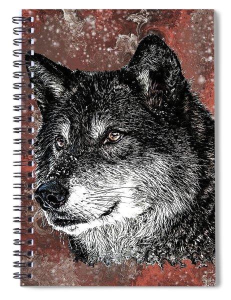 Wild Dark Wolf Spiral Notebook
