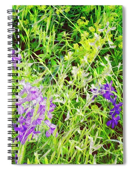Wild Delphinium Bliss Spiral Notebook