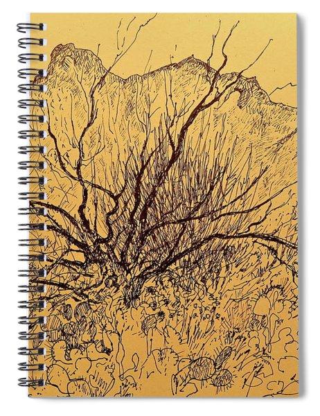Wild Desert Shrub Spiral Notebook