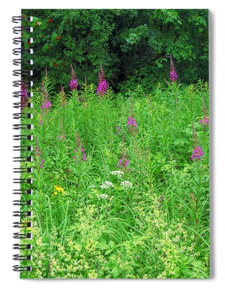 Wild Flowers And Shrubs In Vogelsberg Spiral Notebook