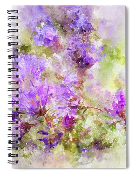 Wild Flowers In The Fall Watercolor Spiral Notebook