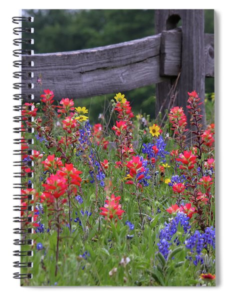Spiral Notebook featuring the photograph Wild Flowers by Robert Bellomy