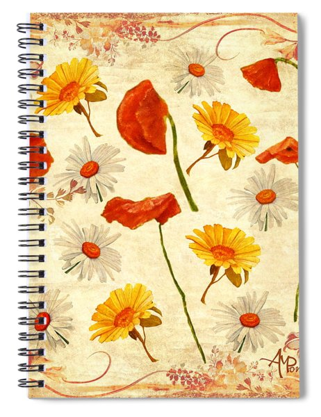 Wild Flowers Vintage Spiral Notebook