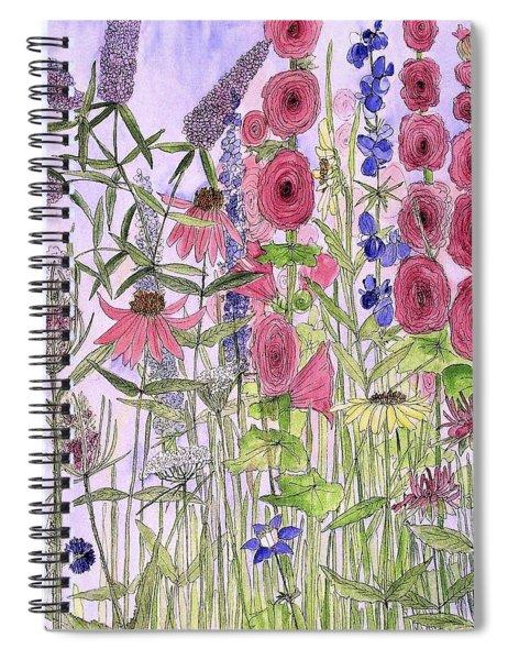 Wild Garden Flowers Spiral Notebook