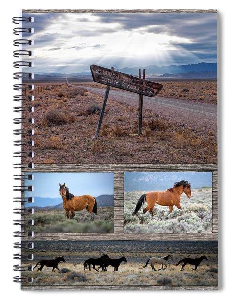 Wild Horse Country Spiral Notebook