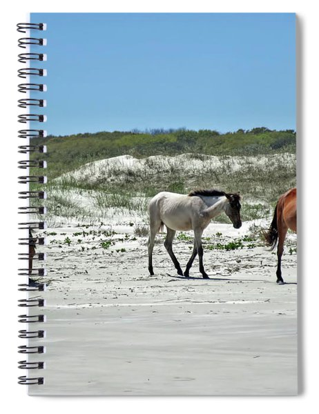 Wild Horses On The Beach Spiral Notebook