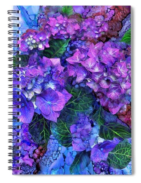 Wild Hydrangeas Spiral Notebook