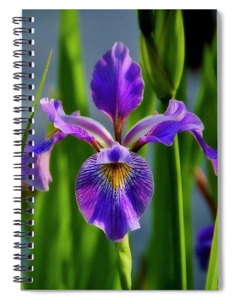 Wild Iris In Flight Spiral Notebook
