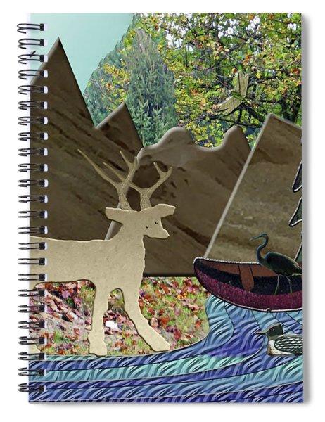 Wild Rural Animals Spiral Notebook