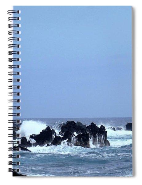 Wild Sea In Madeira Spiral Notebook