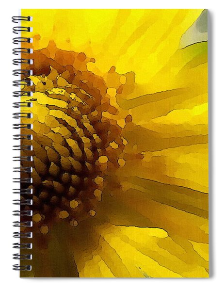 Wild Sunflower Up Close Spiral Notebook