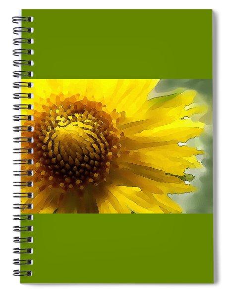 Wild Sunflower Up Close Spiral Notebook
