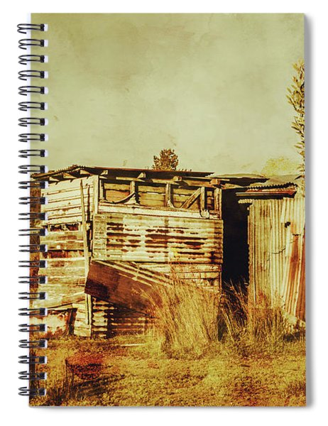 Wild West Australian Barn Spiral Notebook