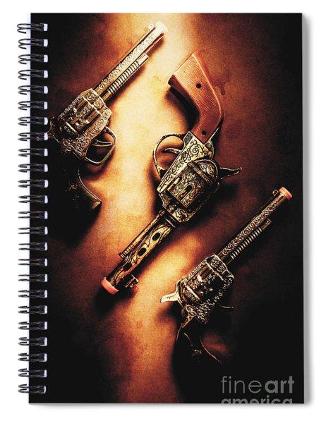 Wild West Cap Guns Spiral Notebook