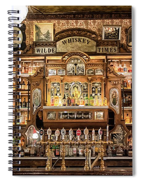 Spiral Notebook featuring the photograph Wilde Times by Alison Frank