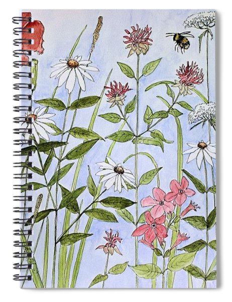 Wildflower And Blue Sky Spiral Notebook