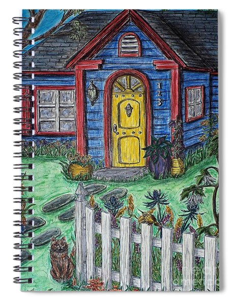Wildflower Cottage Spiral Notebook