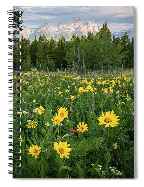 Wildflower Meadow In The Tetons Spiral Notebook
