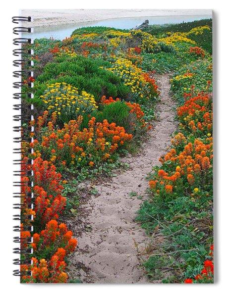 Wildflower Path At Ribera Beach Spiral Notebook