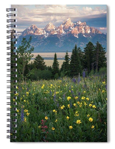 Wildflowers At Grand Teton National Park Spiral Notebook