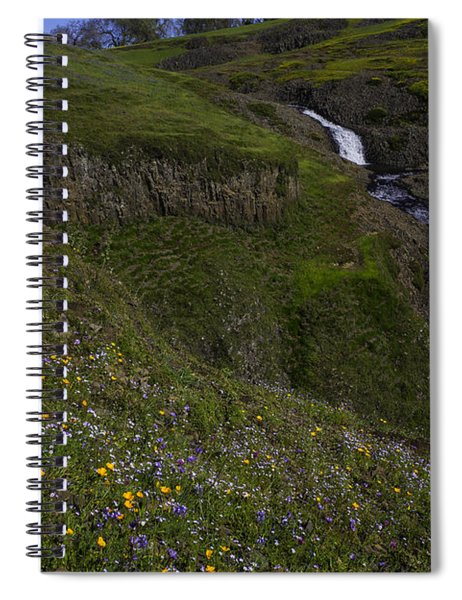 Wildflowers By Waterfall Spiral Notebook