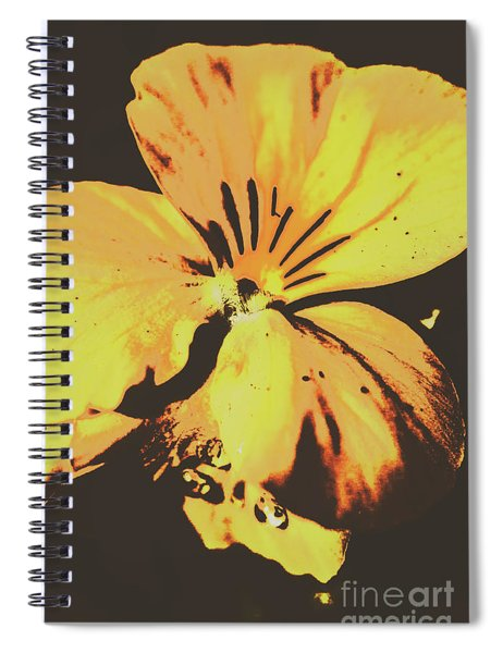 Wildflowers In Posterization Spiral Notebook