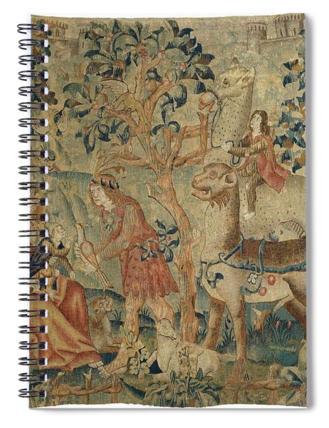 Wildmen And Animals In A Landscape Fragment, Anonymous, C. 1500 - C. 1520 Spiral Notebook