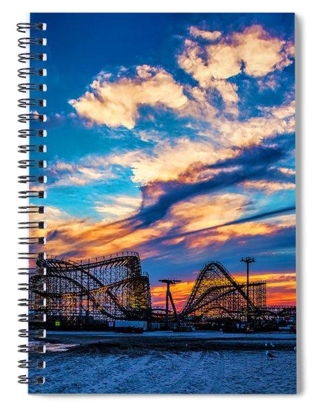Wildwood Beach Sunset Spiral Notebook