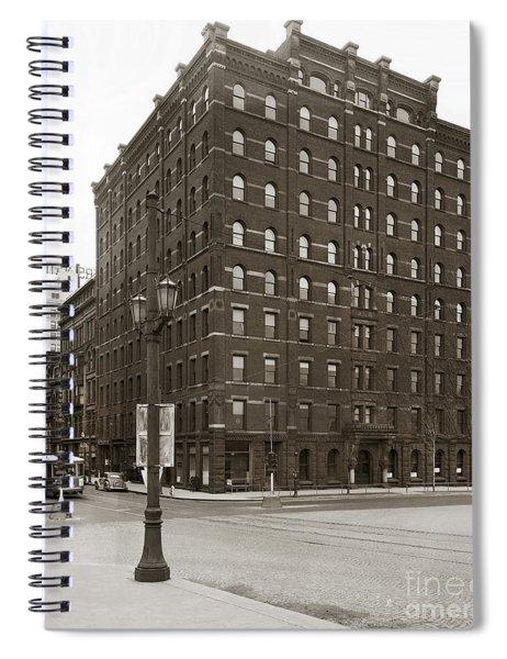 Wilkes Barre Pa Hollenback Coal Exchange Building Corner Of Market And River Sts April 1937 Spiral Notebook