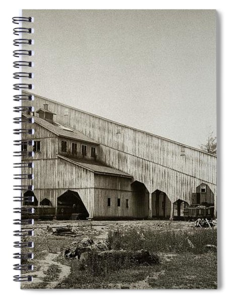 Wilkes Barre Twp Pa Empire Number 5 Coal Breaker 1880 Lehigh And Wb Coal Co. Spiral Notebook