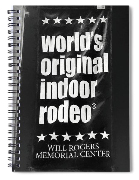 Will Rogers Rodeo Bw Spiral Notebook