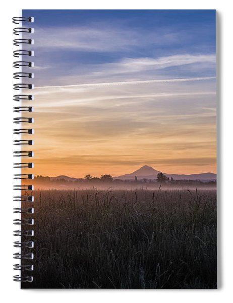 Willamette Valley Sunrise Spiral Notebook