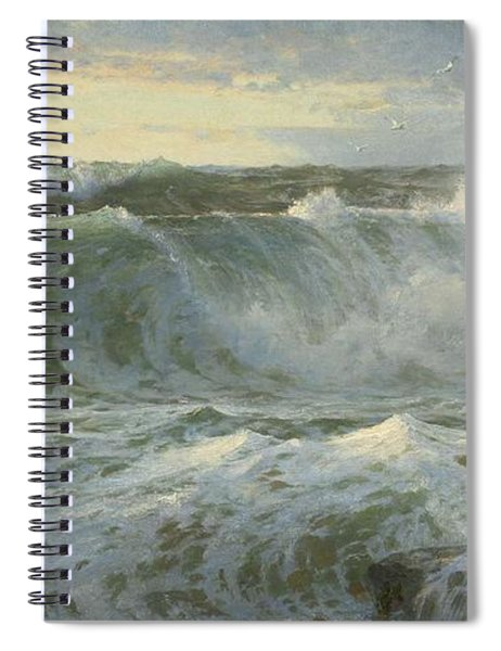 William Trost Richards American 1833  1905   Seascape Spiral Notebook