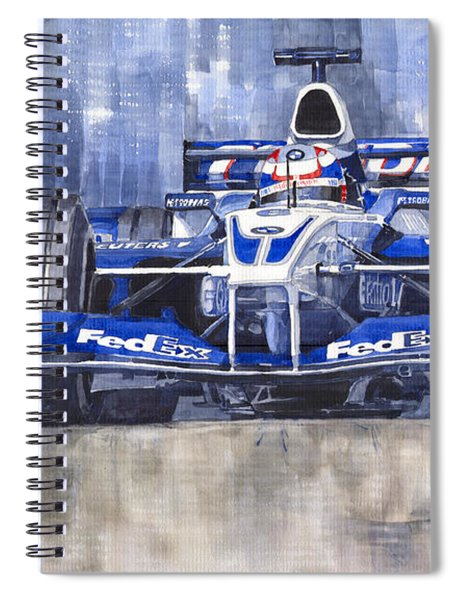 Williams Bmw Fw24 2002 Juan Pablo Montoya Spiral Notebook