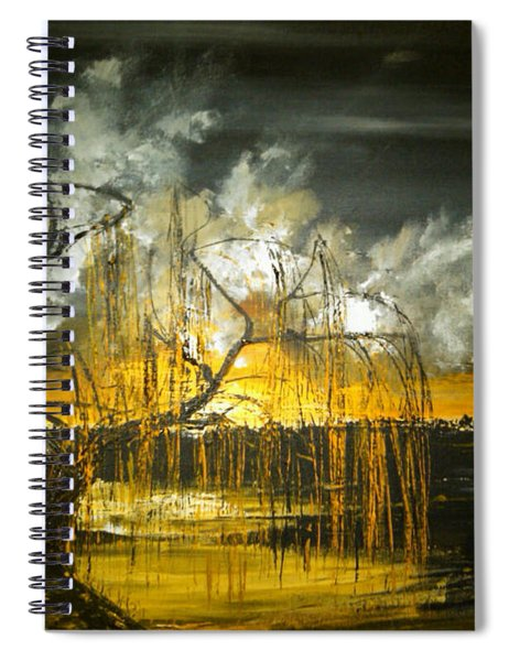 Willow On The Shore Spiral Notebook